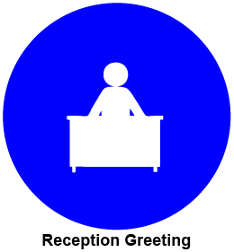 Reception greeting