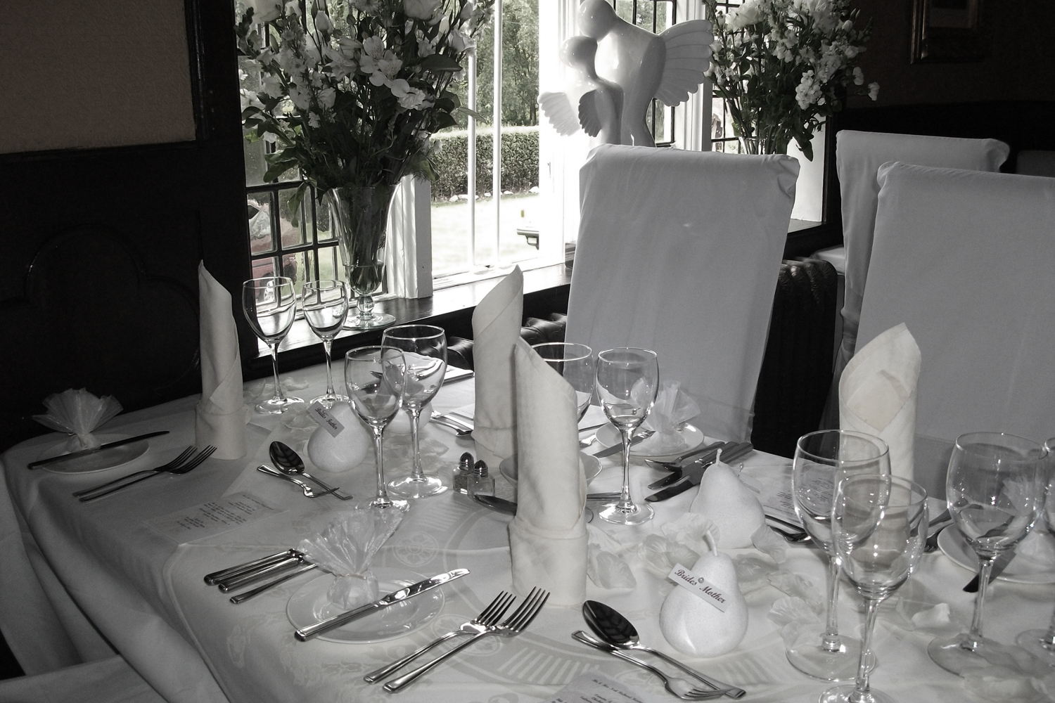 Table Setting at The Old Hall