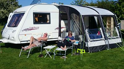 Caravan at Greenwoods Campsite