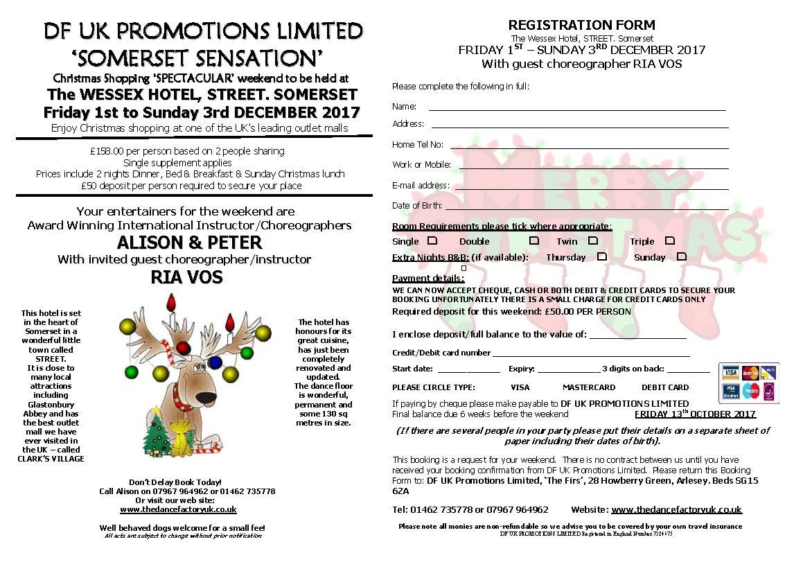 SOMERSET SENSATION with the one and only Ria Vos: 1st - 3rd December