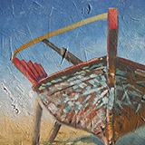 Painting of Portuguese fishing boat
