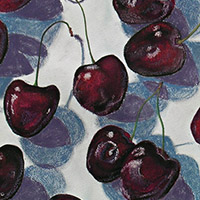 Pastel of cherries