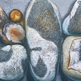 Painting of beach pebbles