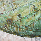 Painting of old boat hull