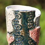 Ceramic decorated beaker