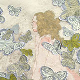 Female figure with butterflies