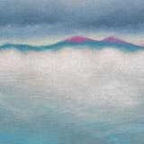 Sea mist and hills
