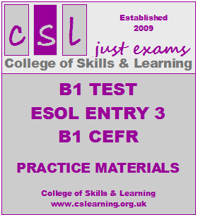 B1 Test Training Materials