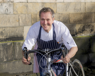 Nick Nairn with bike