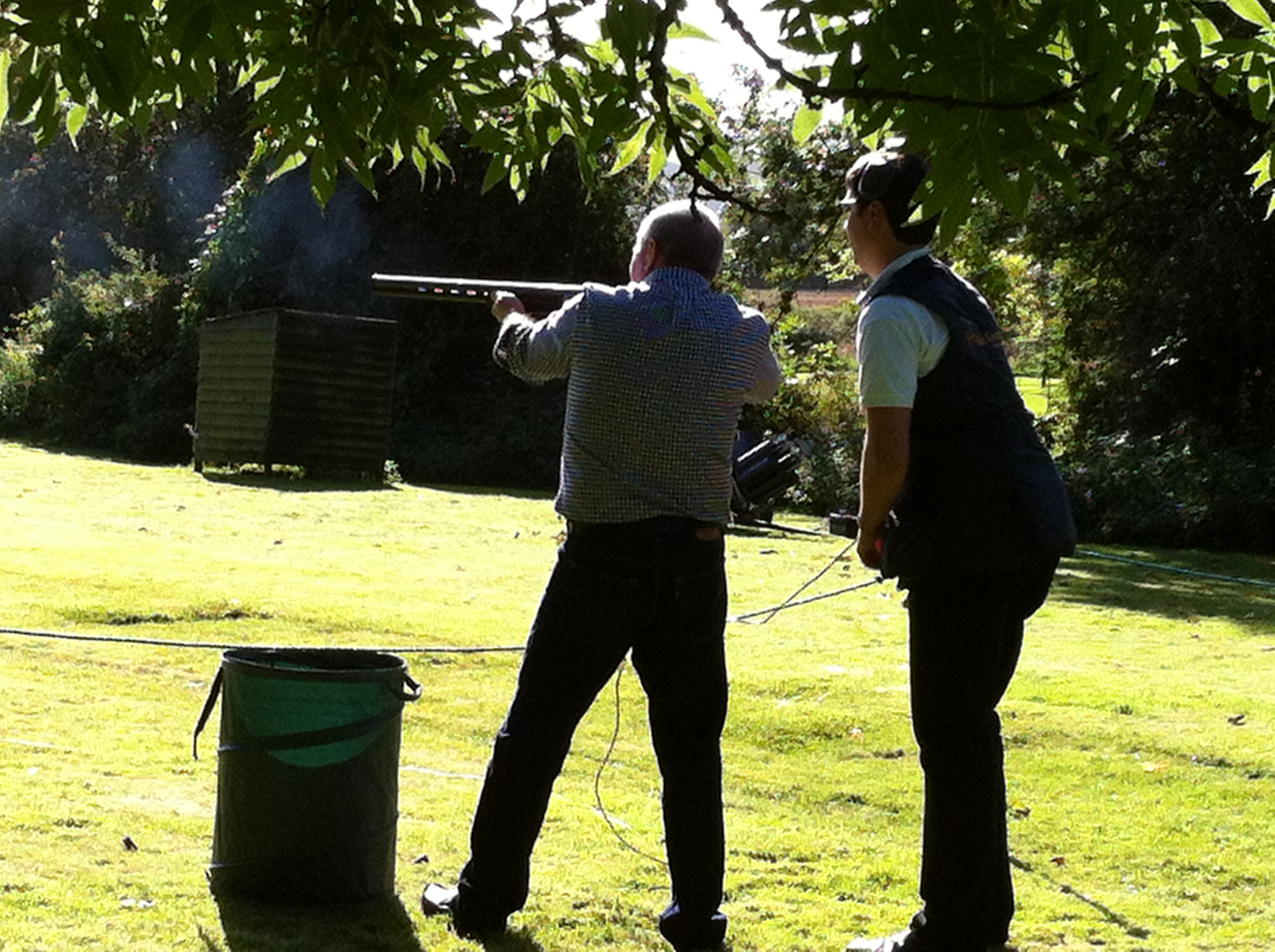 clay shooting tuition with Hart Events Monmouth