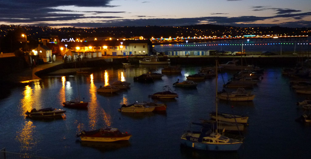 Paignton Harbour at Night