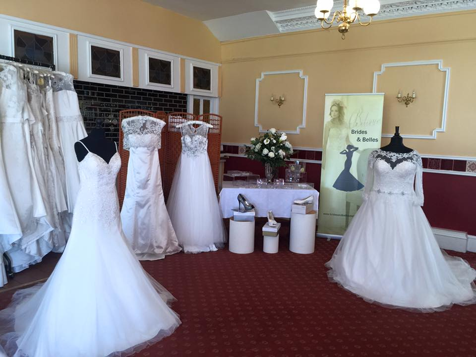Some of the beautiful wedding dresses and shoes available at Brides and Belles wedding shop in Dalbeattie