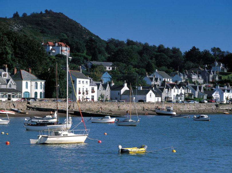 A view of the lovely Solway coastal village of Kippford from the marina