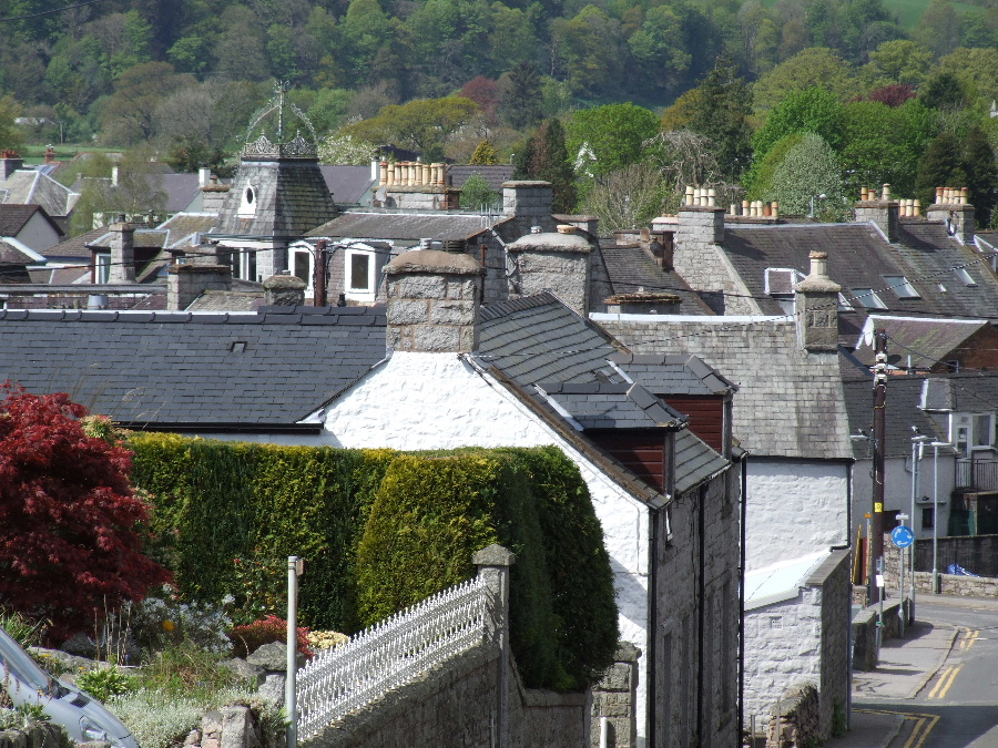 A view over Dalbeattie's rooftops