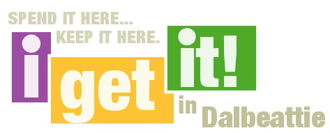 I get it in Dalbeattie logo, the shop local campaign for Dalbeattie and district