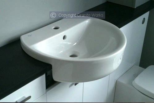 Cloakroom and bathroom fittings in granite and slate by Granite Works Ltd of Dumfries