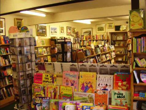 Interior of the Dalbeattie Books bookstore