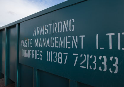 Armstrong Waste Management of Dumfries is a member of the Dalbeattie and District Chamber of Trade and Commerce