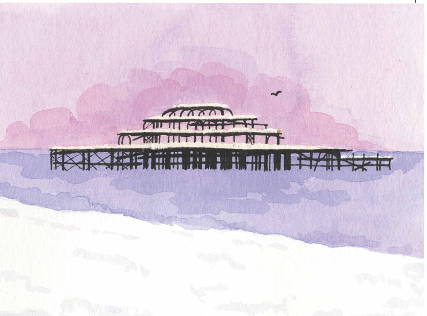 Winter West Pier