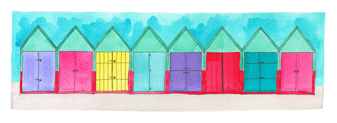 Beach Huts Straight