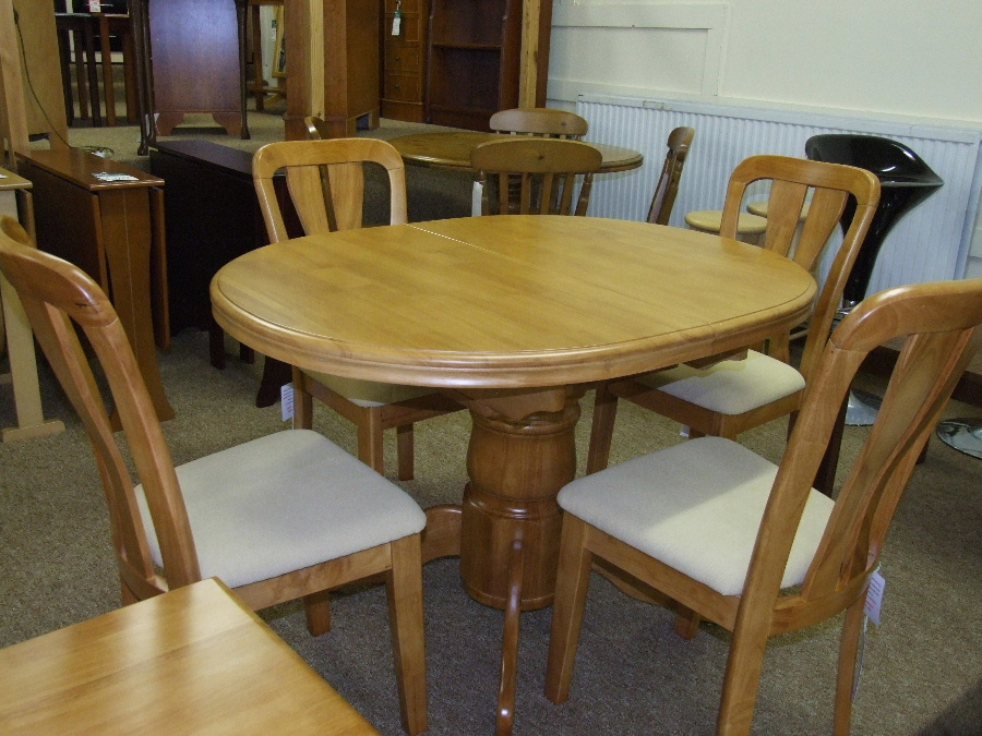 Dining tables and chairs from Bryan Gowans Dalbeattie