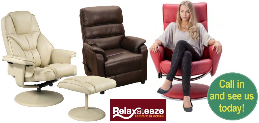 Recliner chairs and settees from Bryan Gowans Dalbeattie