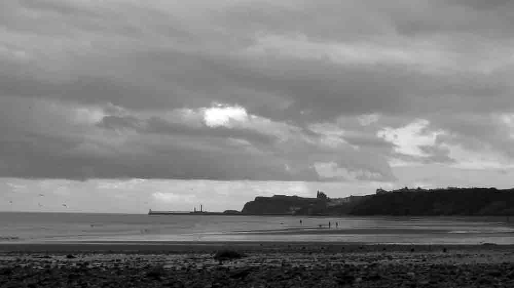 Beach in Sandsend, looking towards Whitby