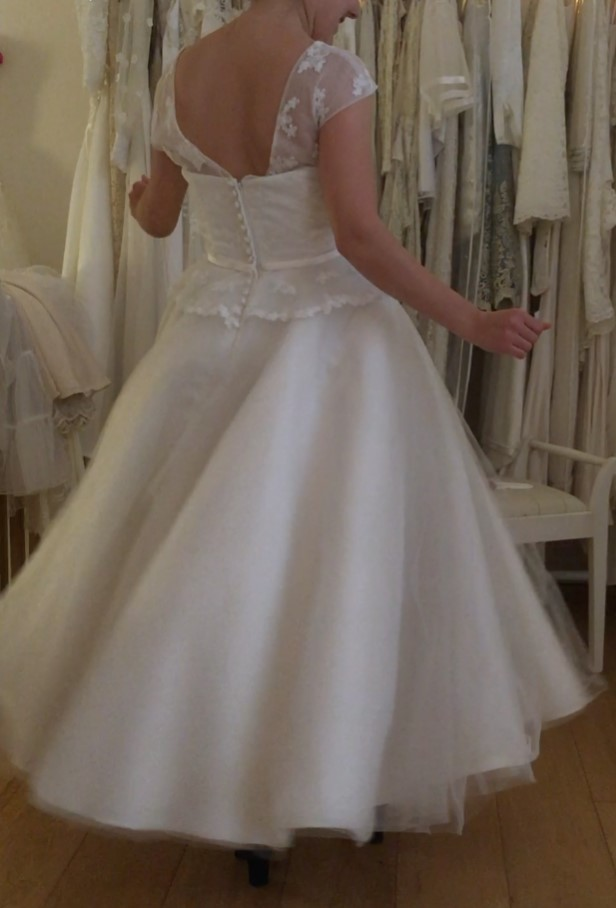 We sell a range of wedding dresses with vintage styling