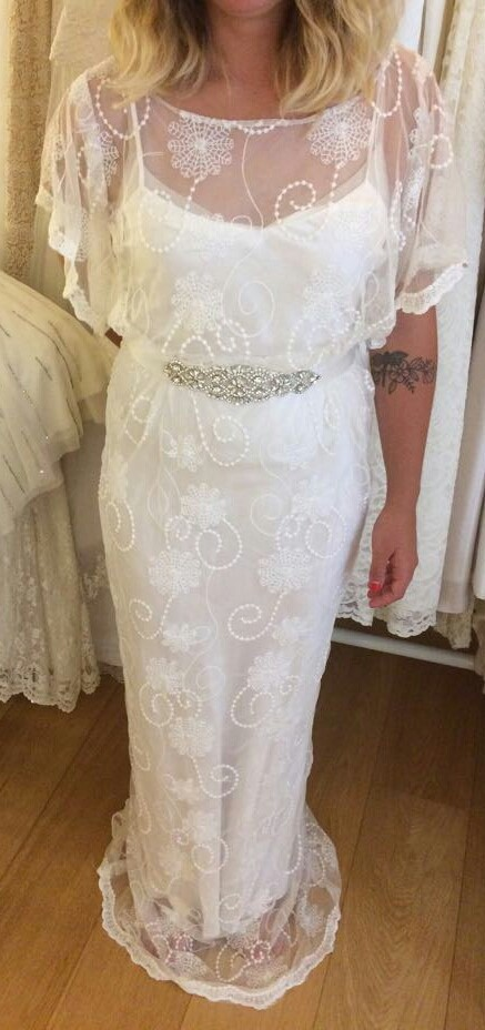 Bohemian wedding dress from our bridal boutique in Brighton.