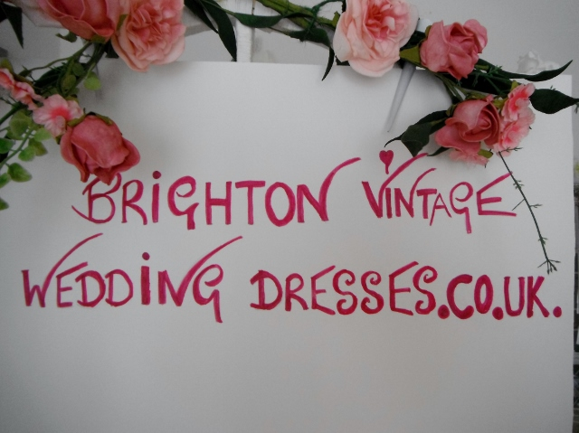 we sell wedding dresses from our bridal studio in Hove
