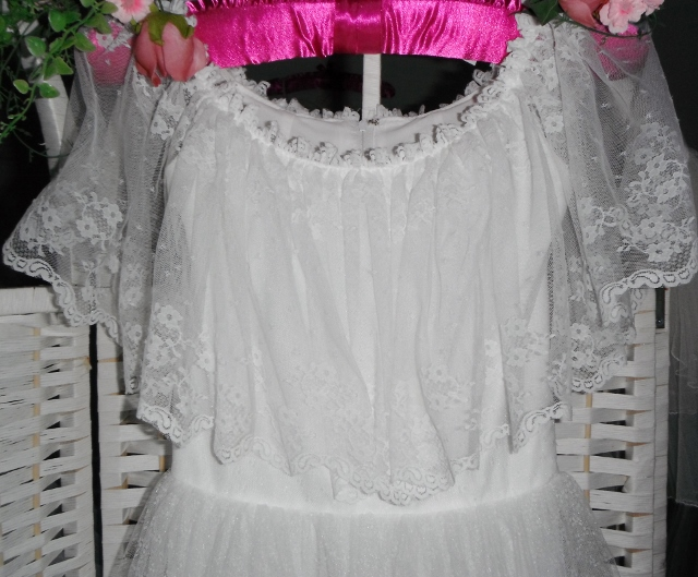 This is a vintage wedding gown