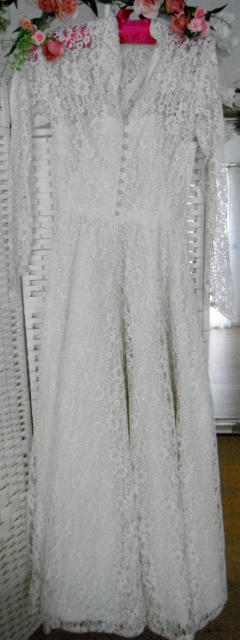 vintage wedding dress Beth size 6-8
