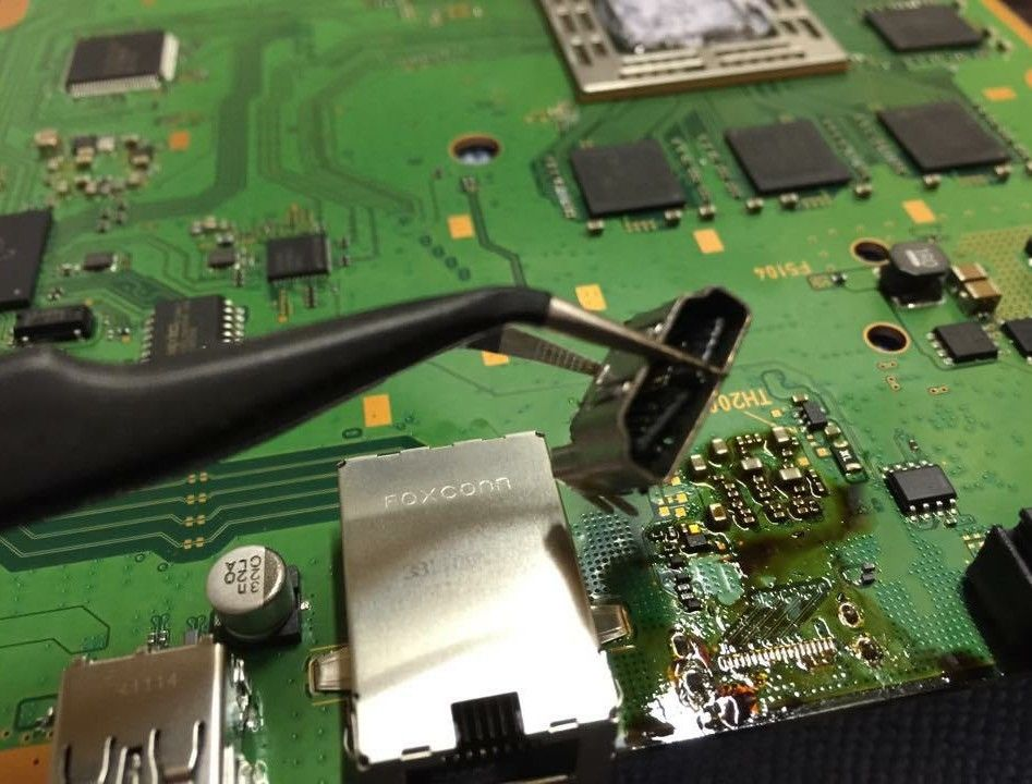 Corrosion around display connector