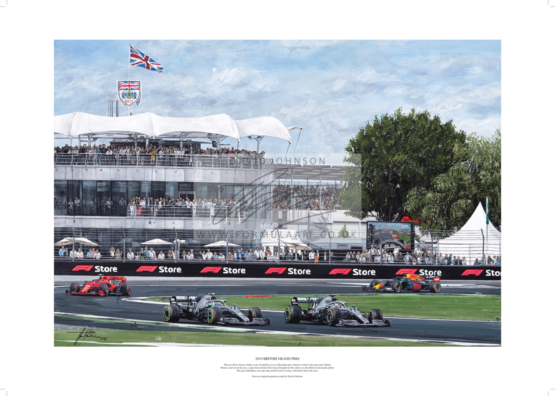 2019 British Grand Prix Lithograph (RRP £39.99)
