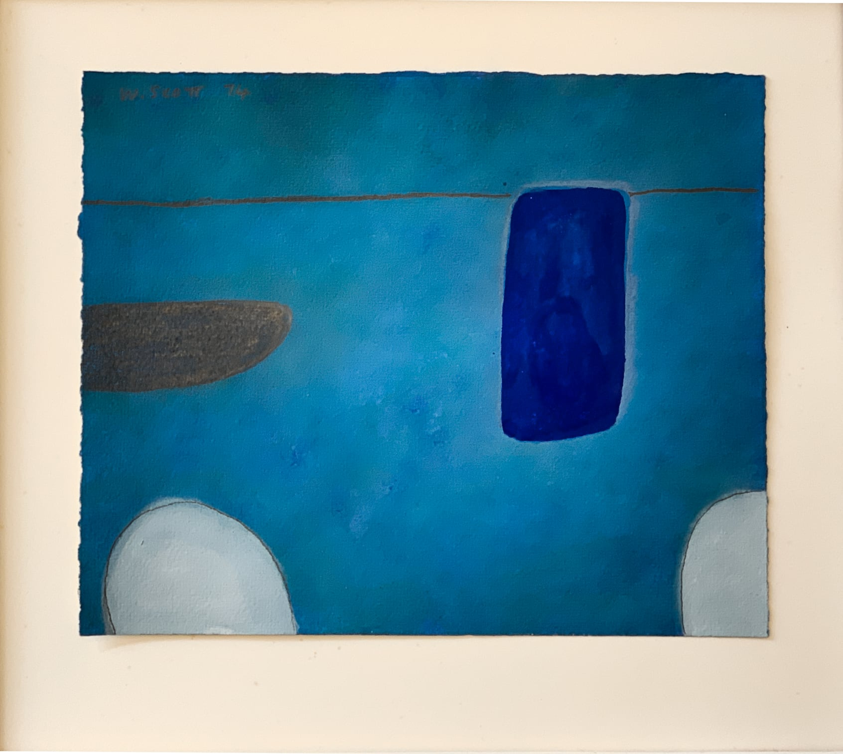 William Scott - Still Life Abstracted 1st Theme,  in blue No XLVI/L