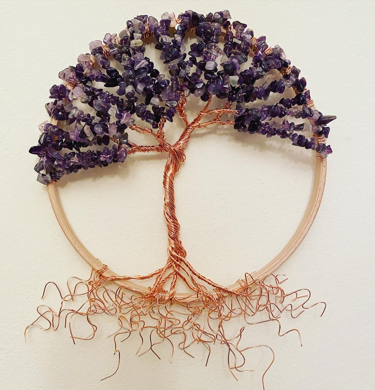 Copper and Amethyst tree of life