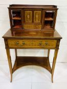 Superb Ladies Mahogany Inlaid Writing Desk c1900 Quality