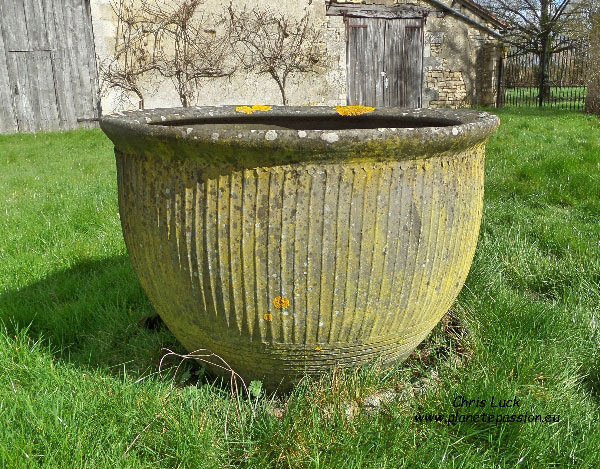 Large 18th century crock used for washing clothes France