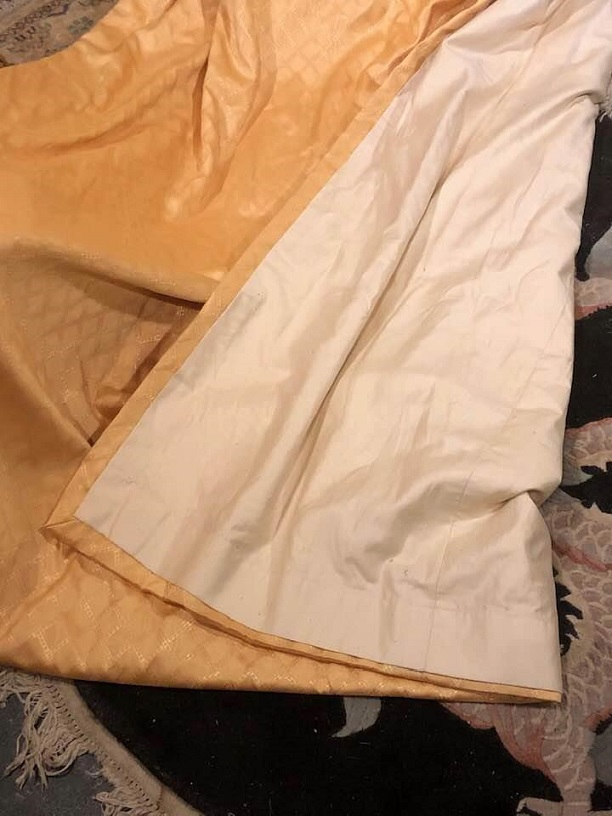 Lovely Gold Pinch Pleat Interlined Curtains W183 D254