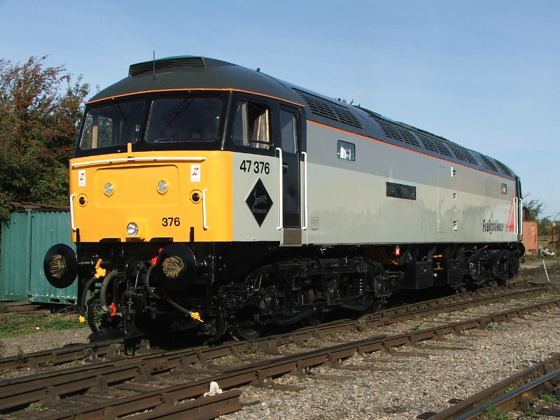 47376 awaits its naming ceremony by Jon Plowright formerly of Freightliner 24/09/05