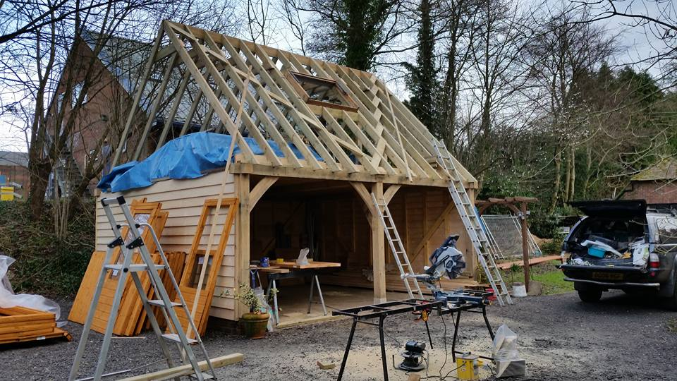 Construction - Oak Frame Garage
