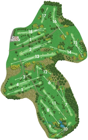 The Newton Stewart Golf Club course layout