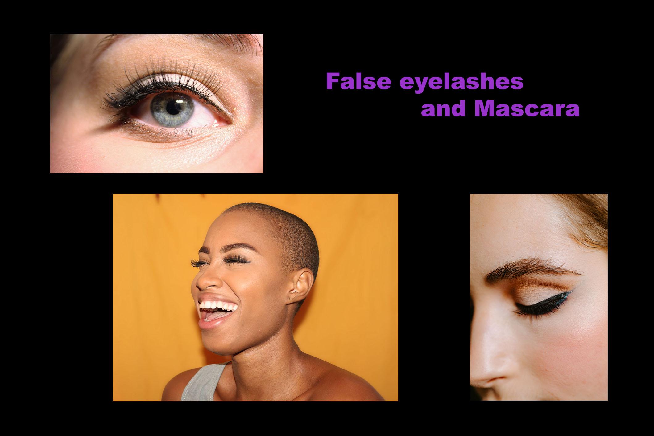 False eyelashes and mascarajpg