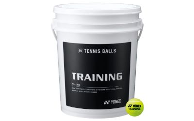 YONEX TRAINING TENNIS BALLS - 60 BALLS BUCKET