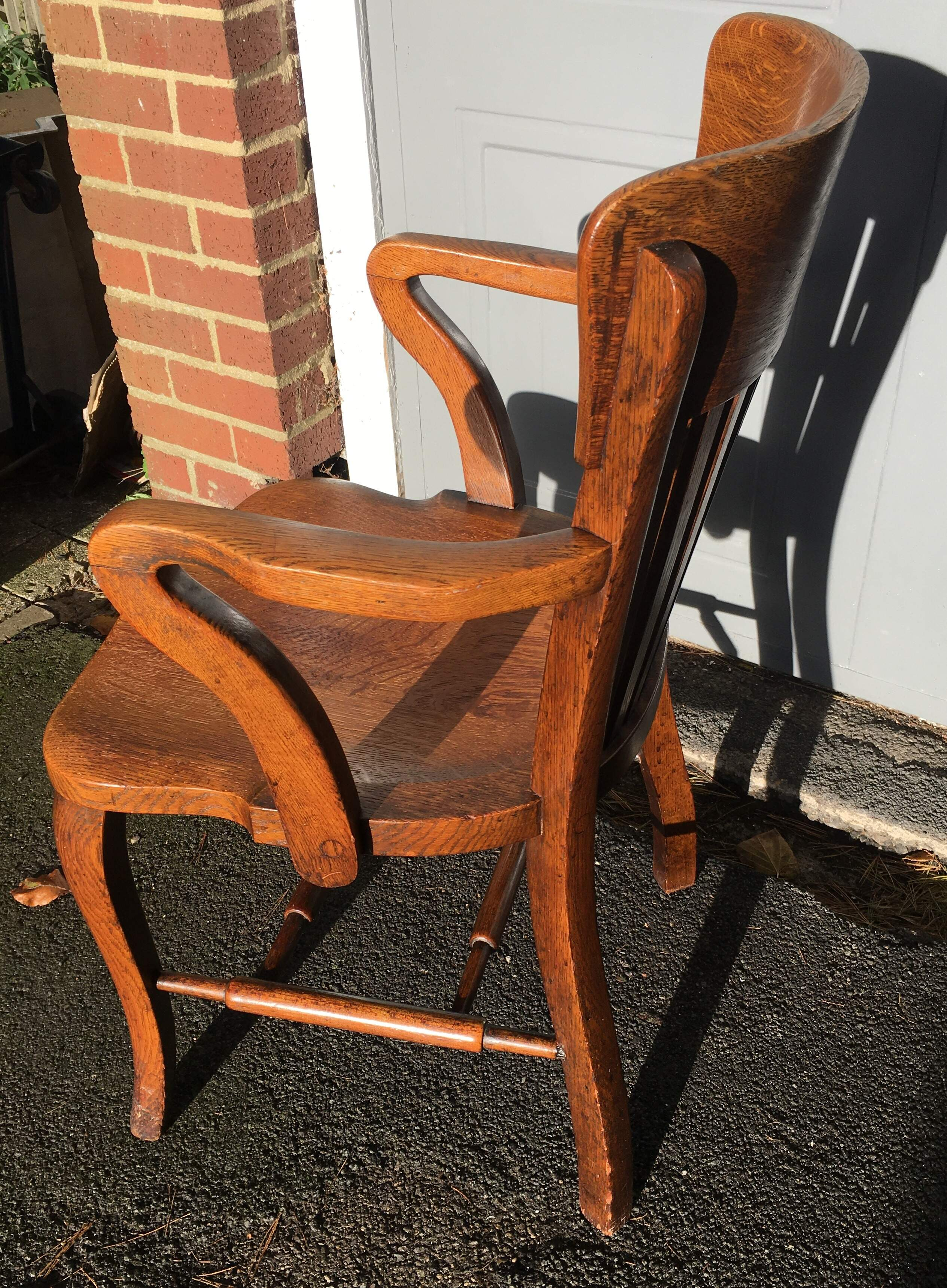 1920's Oak Desk Chair by Simpoles of Manchester  SOLD