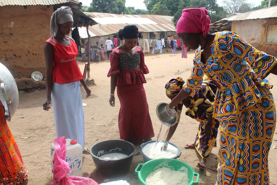 Our mums making the Siiboo Day lunch for all the children and teachers