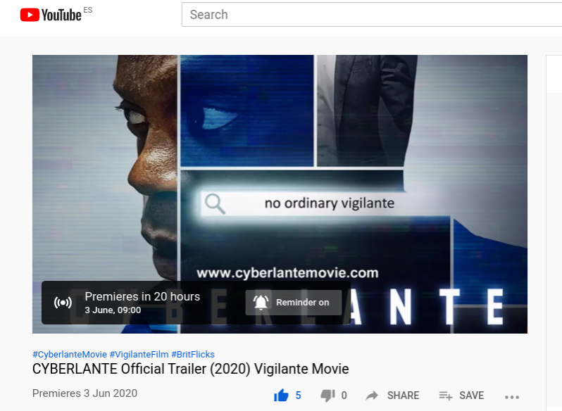 First-look trailer release for cybercrime thriller CYBERLANTE