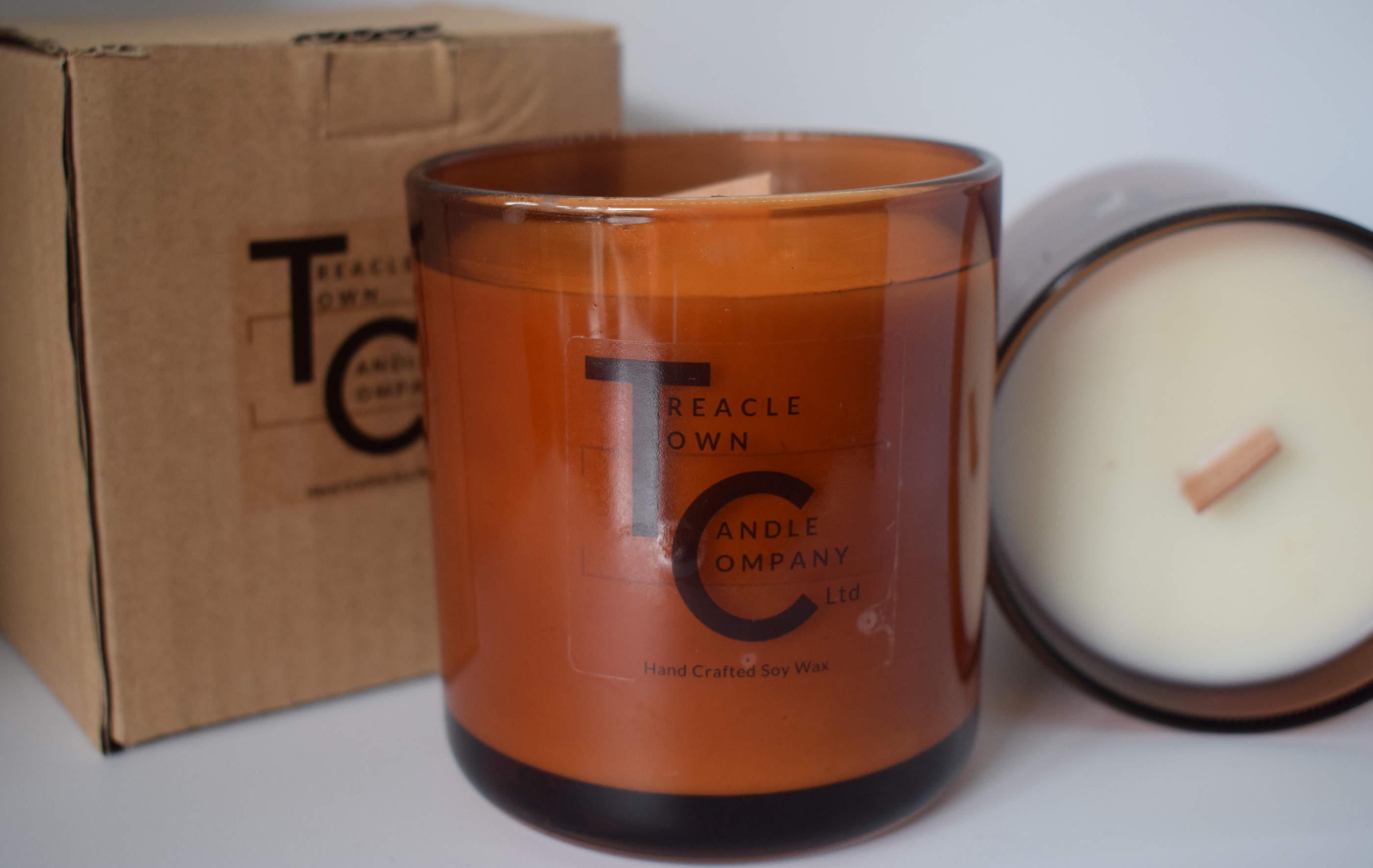 48593541b22 Large Amber Jar Candle