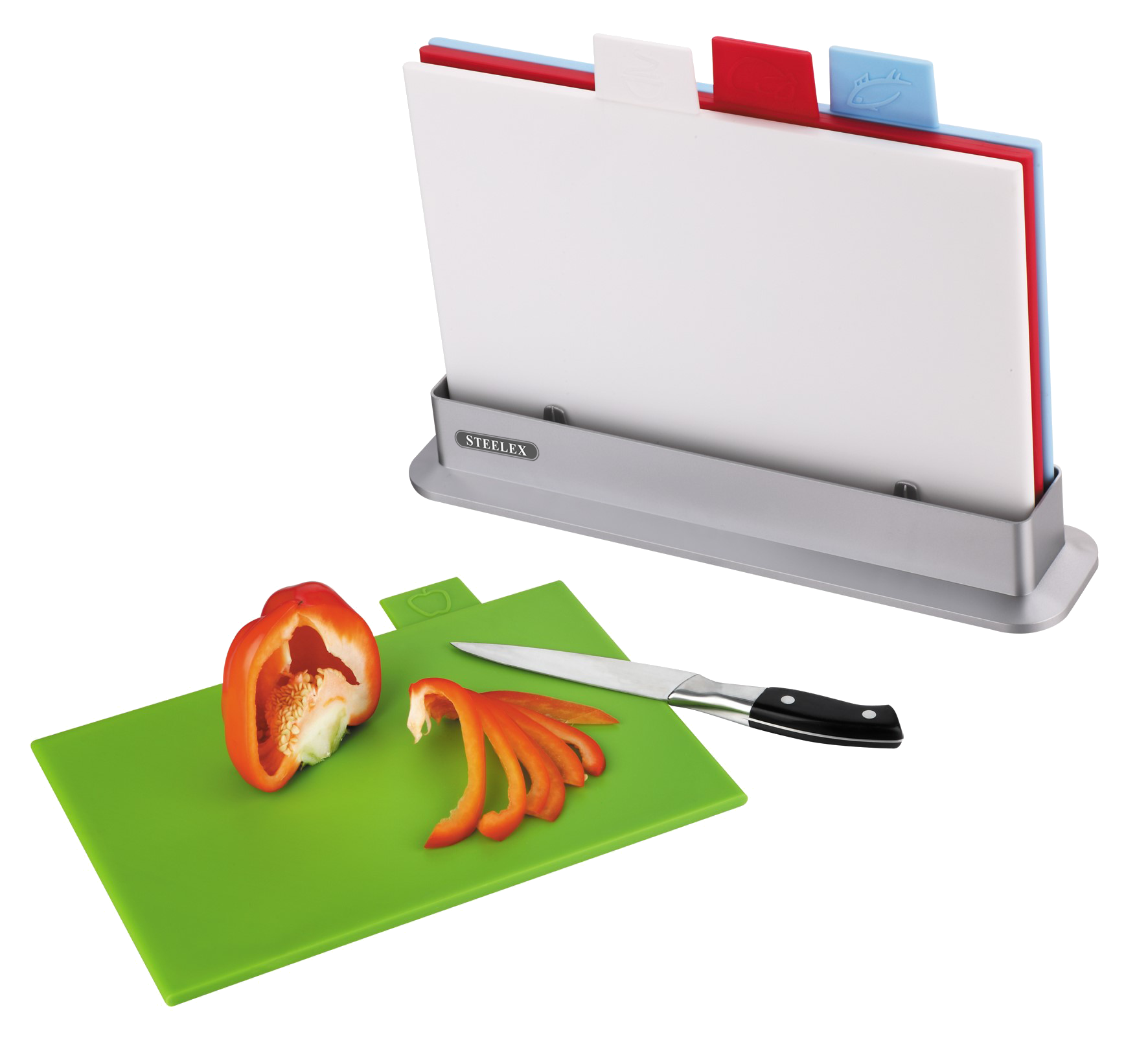 Steelex Index Chopping Board Set