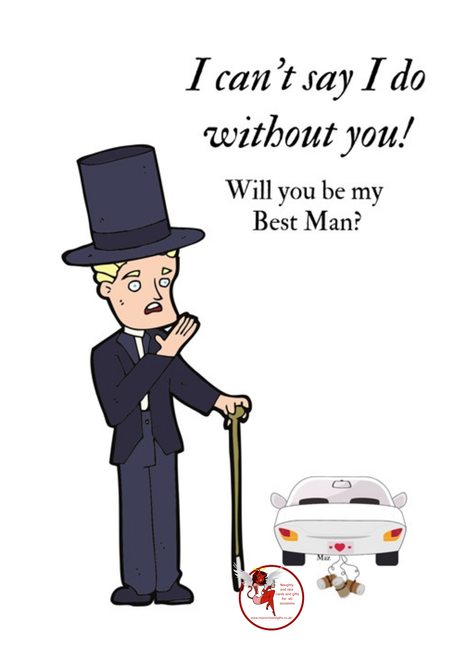 Wedding Day Will you be my best man Order No 077